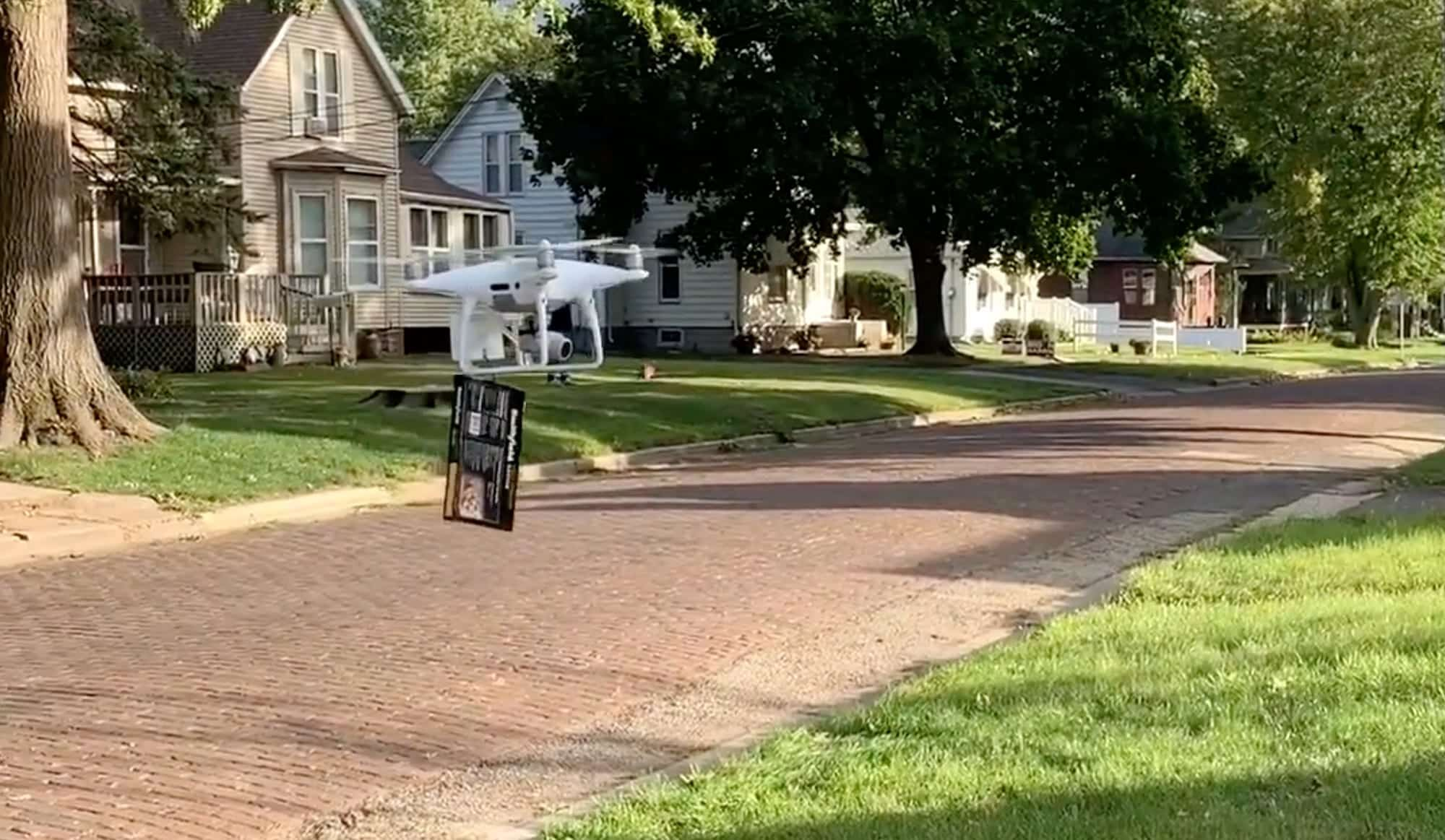 Bacon delivered by drone to family in Galesburg, Illinois
