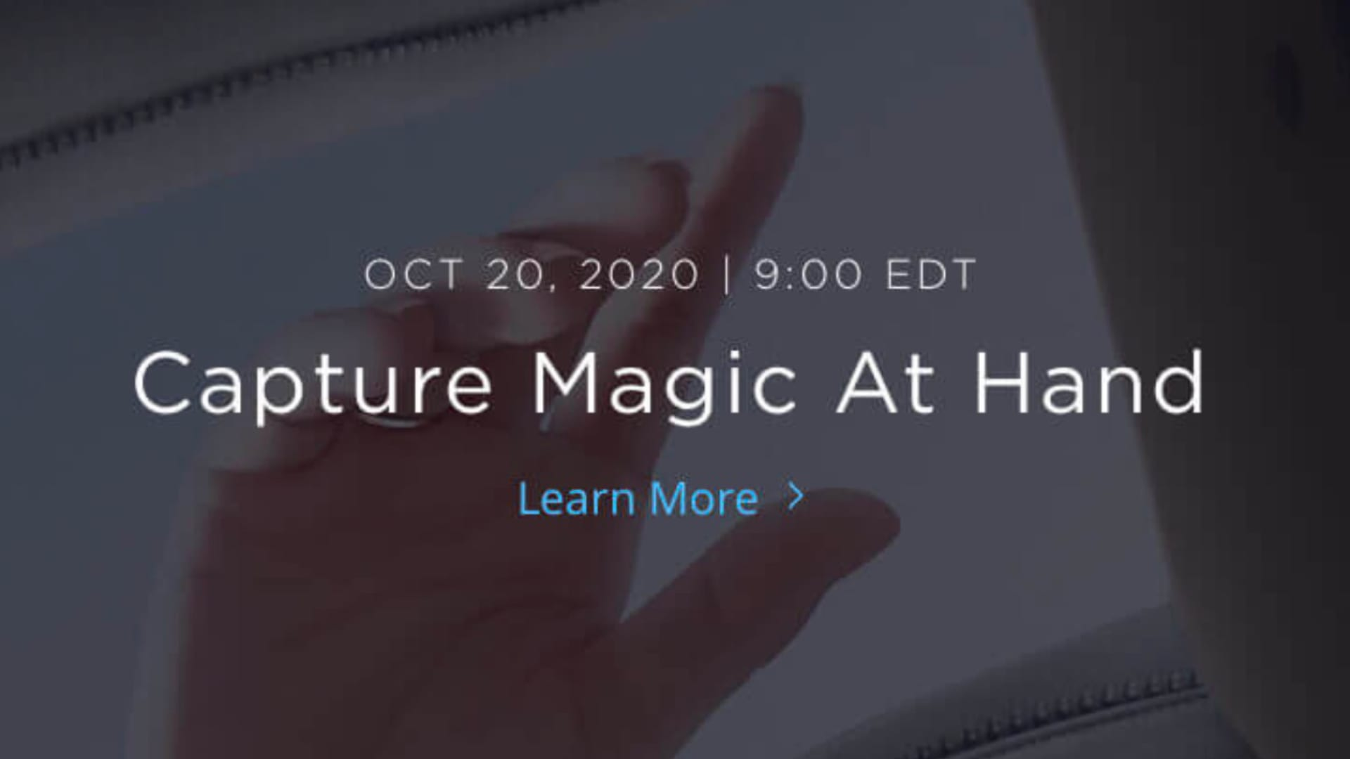 DJI announcement: Capture Magic At Hand