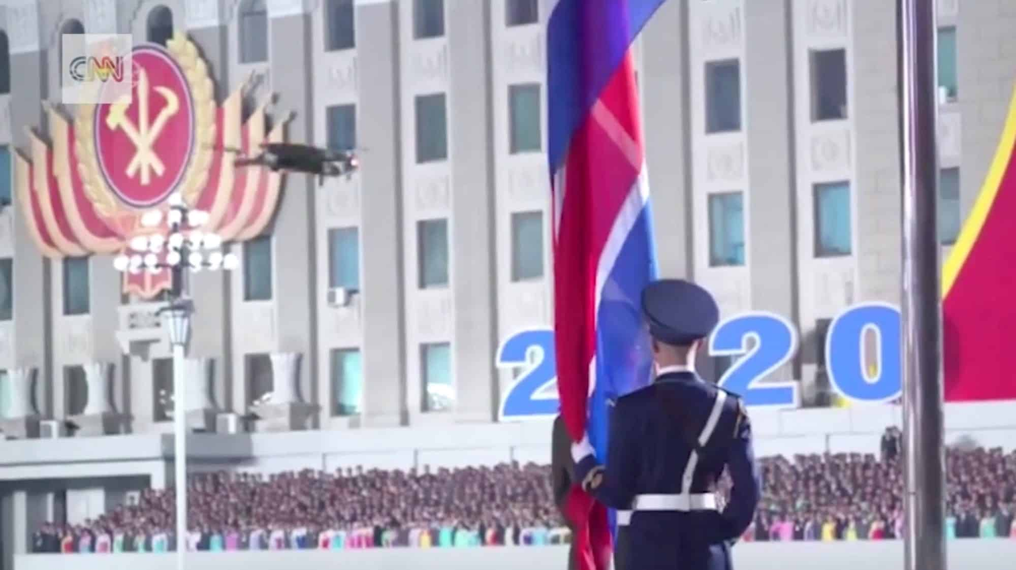 DJI Mavic 2 drone shows up during North Korea military parade