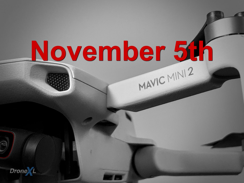 DJI Mavic Mini 2 release date rumored to be November 5th