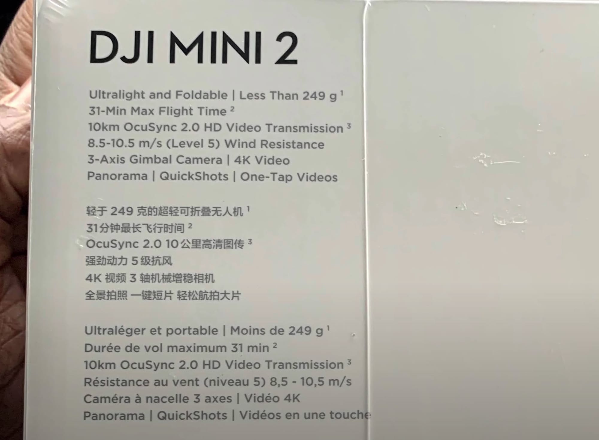 DJI Mini 2 specifications - 4K and Ocusync 2.0