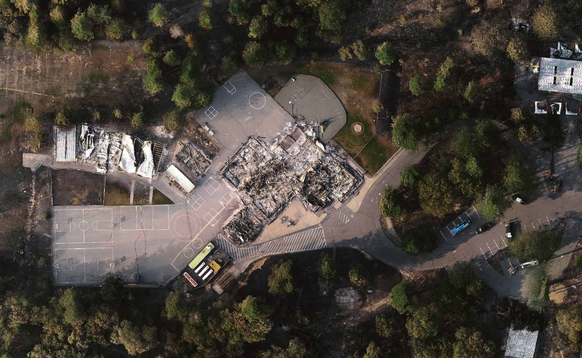 Drone imagery helps tell story of Berry Creek and devastating North Complex Fire