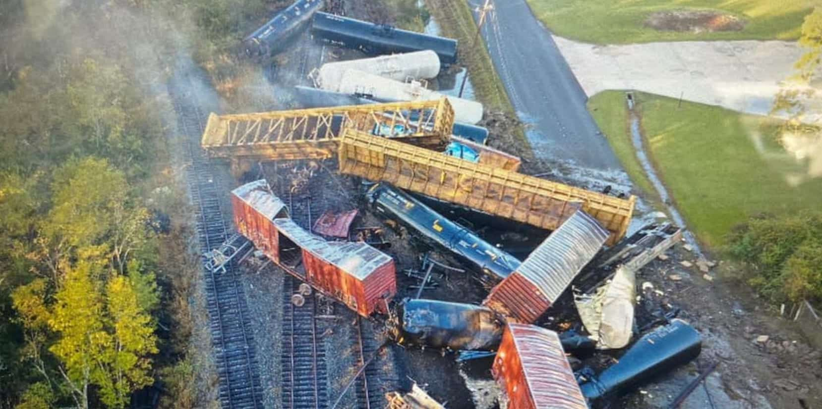 Drone team captures aerial photos of derailed train in southeast Texas