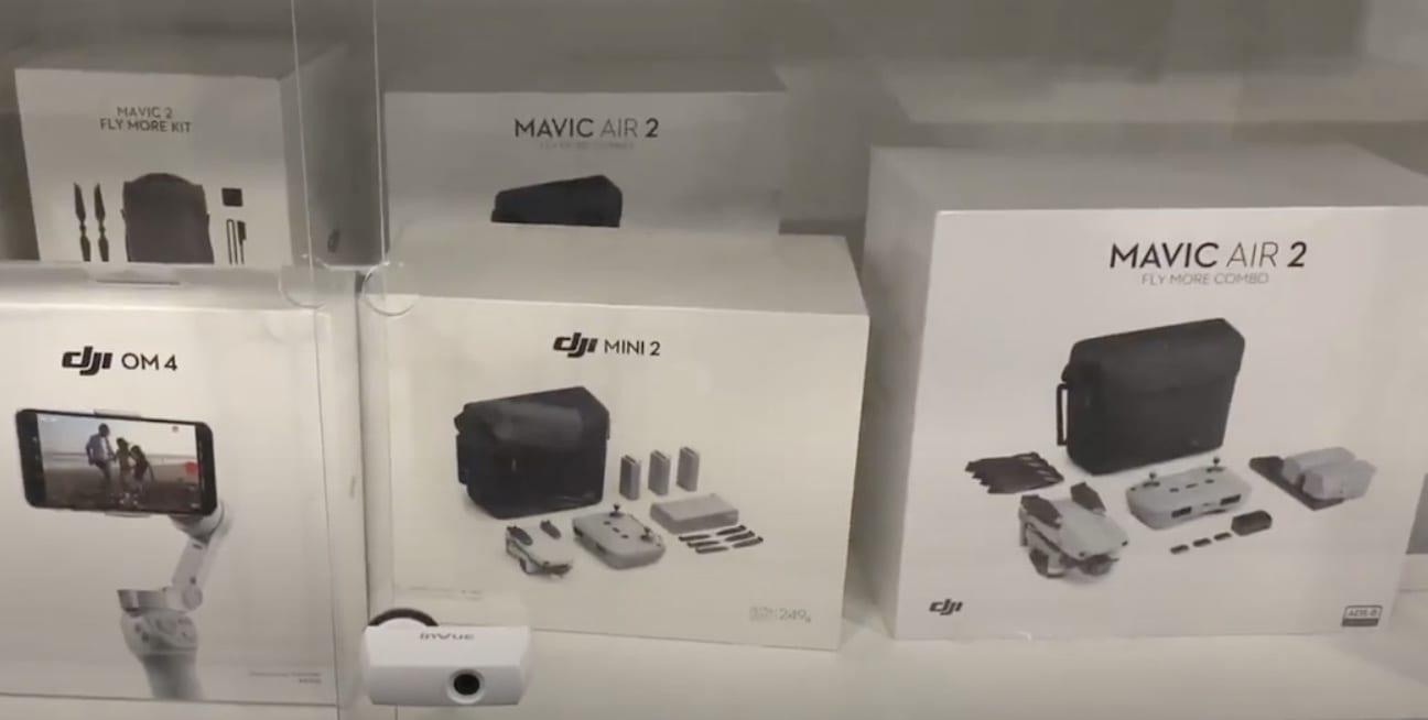 Here's the DJI Mini 2 compared to the DJI Mavic Mini, Mavic Air 2, Mavic Air, Mavic 2 Pro and Zoom, and the DJI Phantom 4 Pro V2.0.
