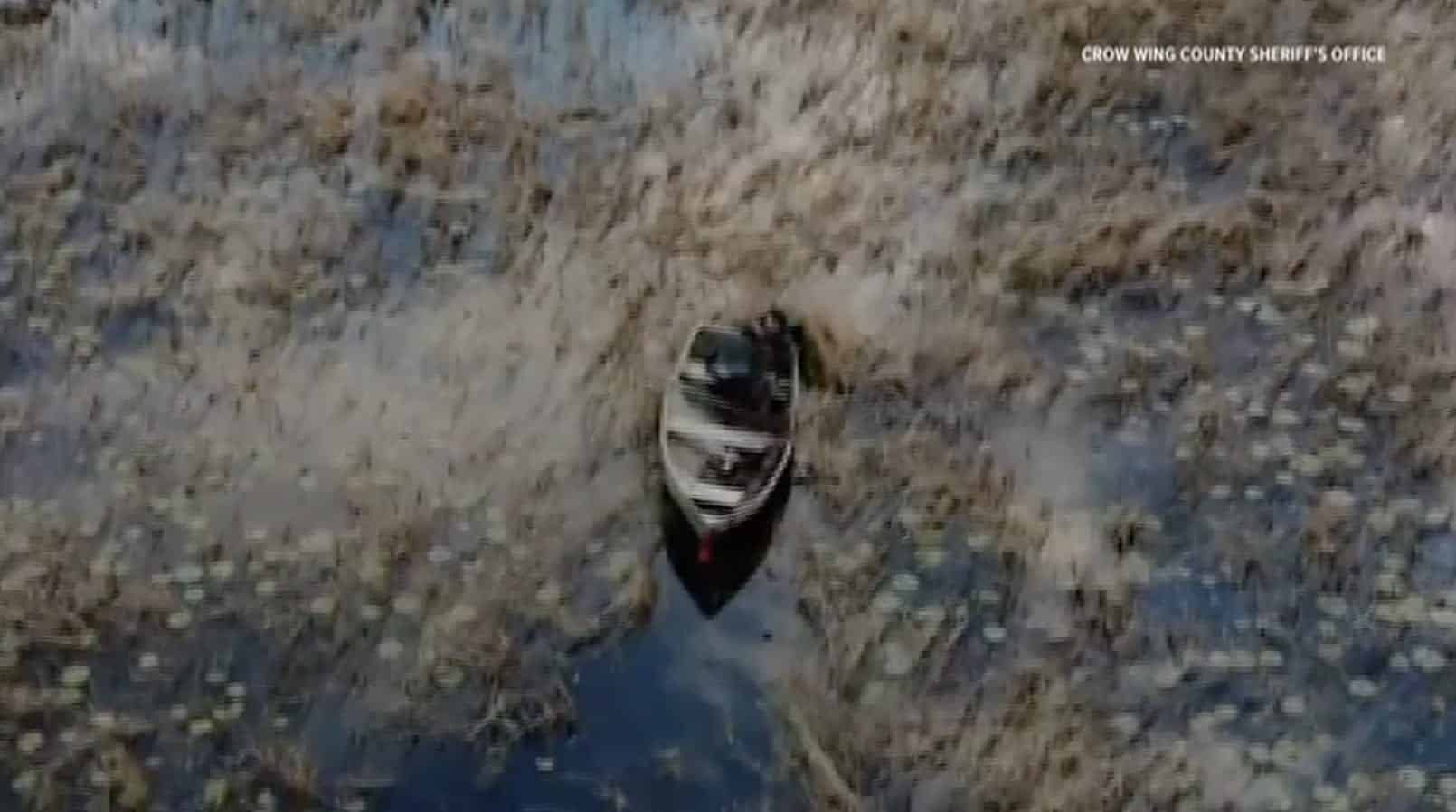 Drone rescued 60-year-old duck hunter who clung to boat for hours