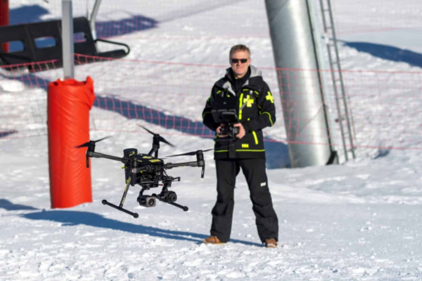 French ski resort turns to thermal drones to aid rescue workers