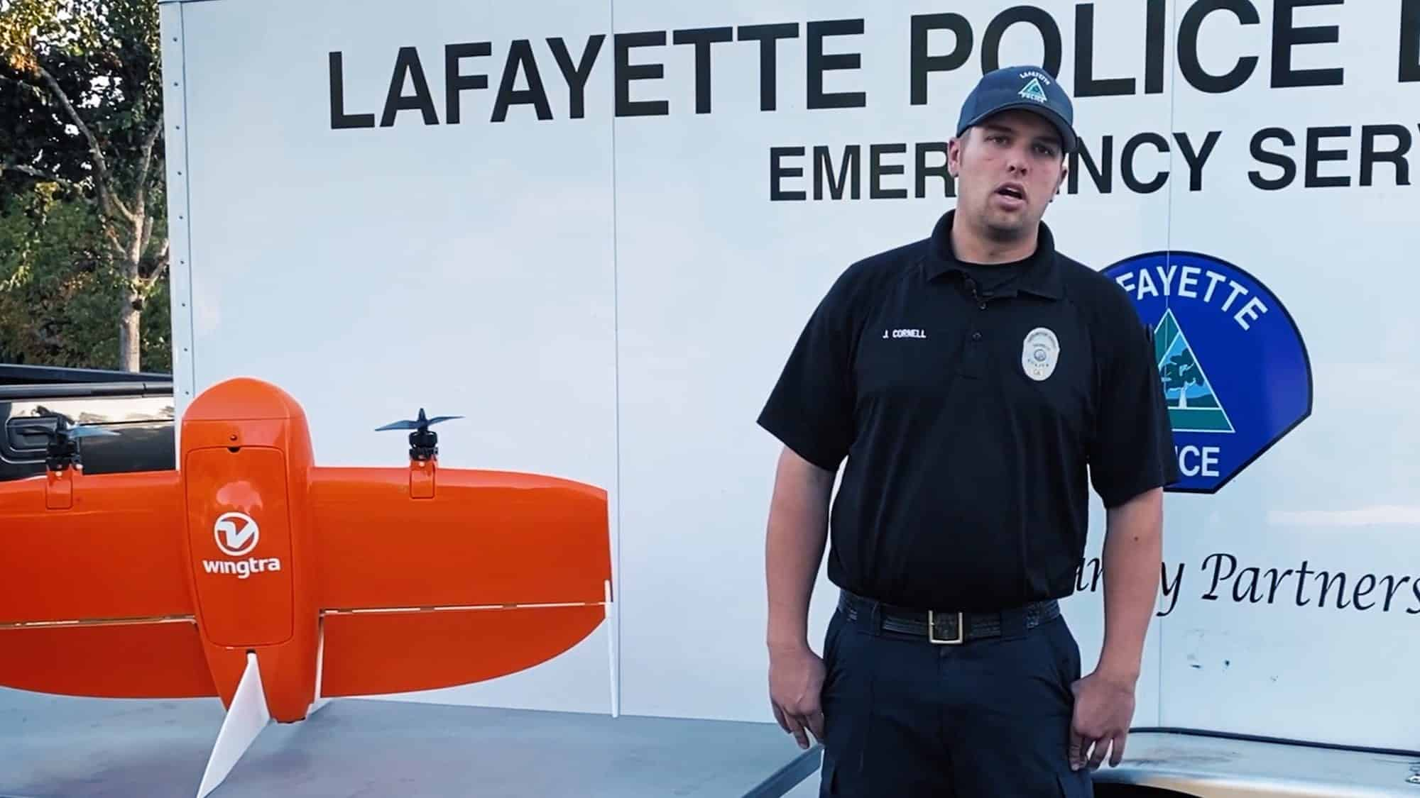 Lafayette Police uses Wingtra VTOL drone to map area destroyed by wildfires