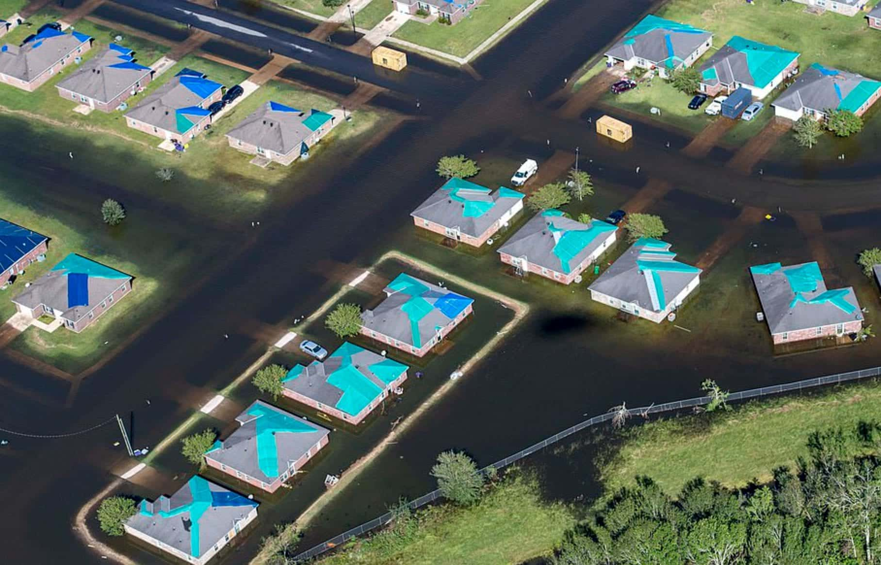 Drone footage shows the devastation in the wake of hurricanes Delta and Laura