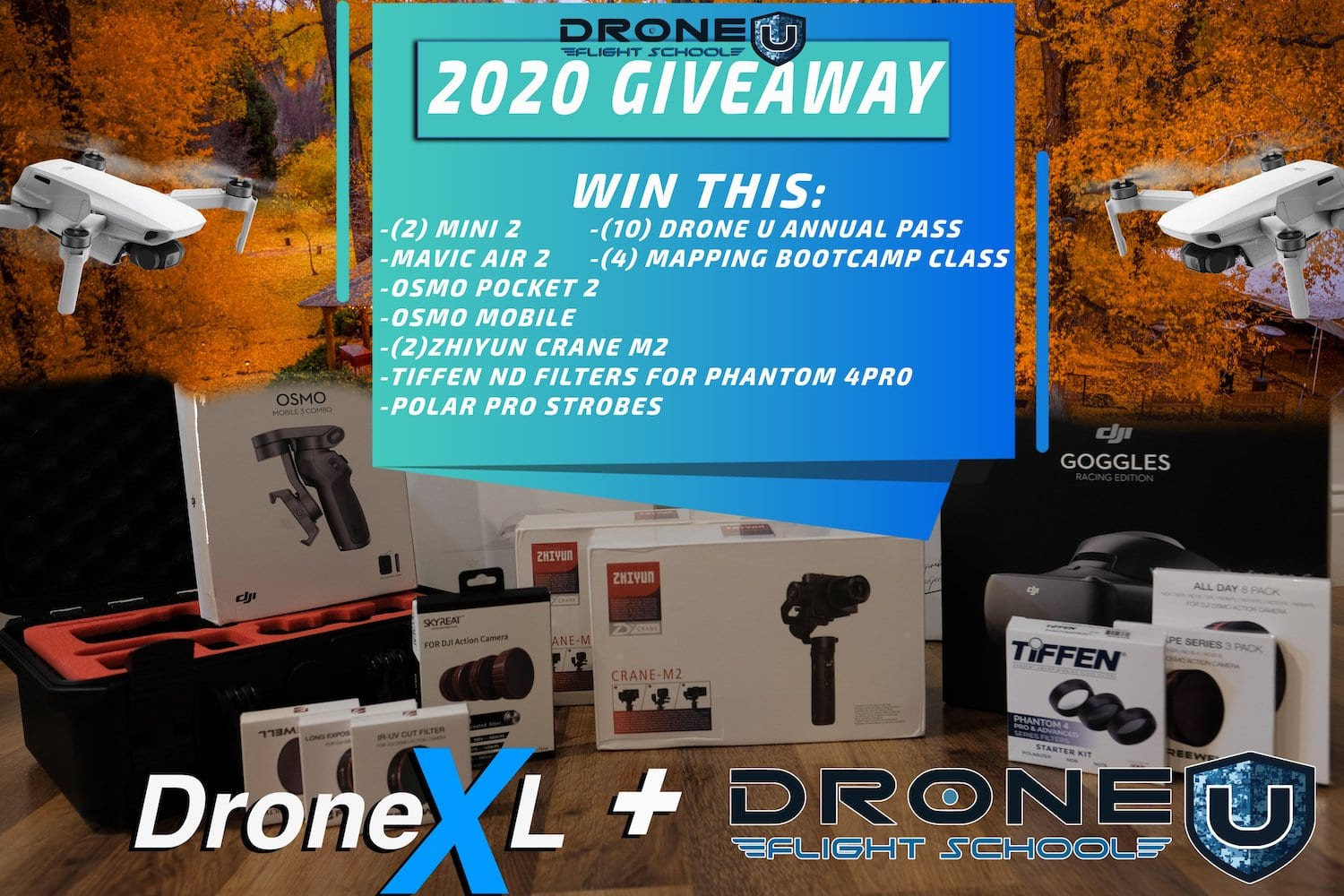 2020 Thanksgiving Giveaway by Drone U & DroneXL
