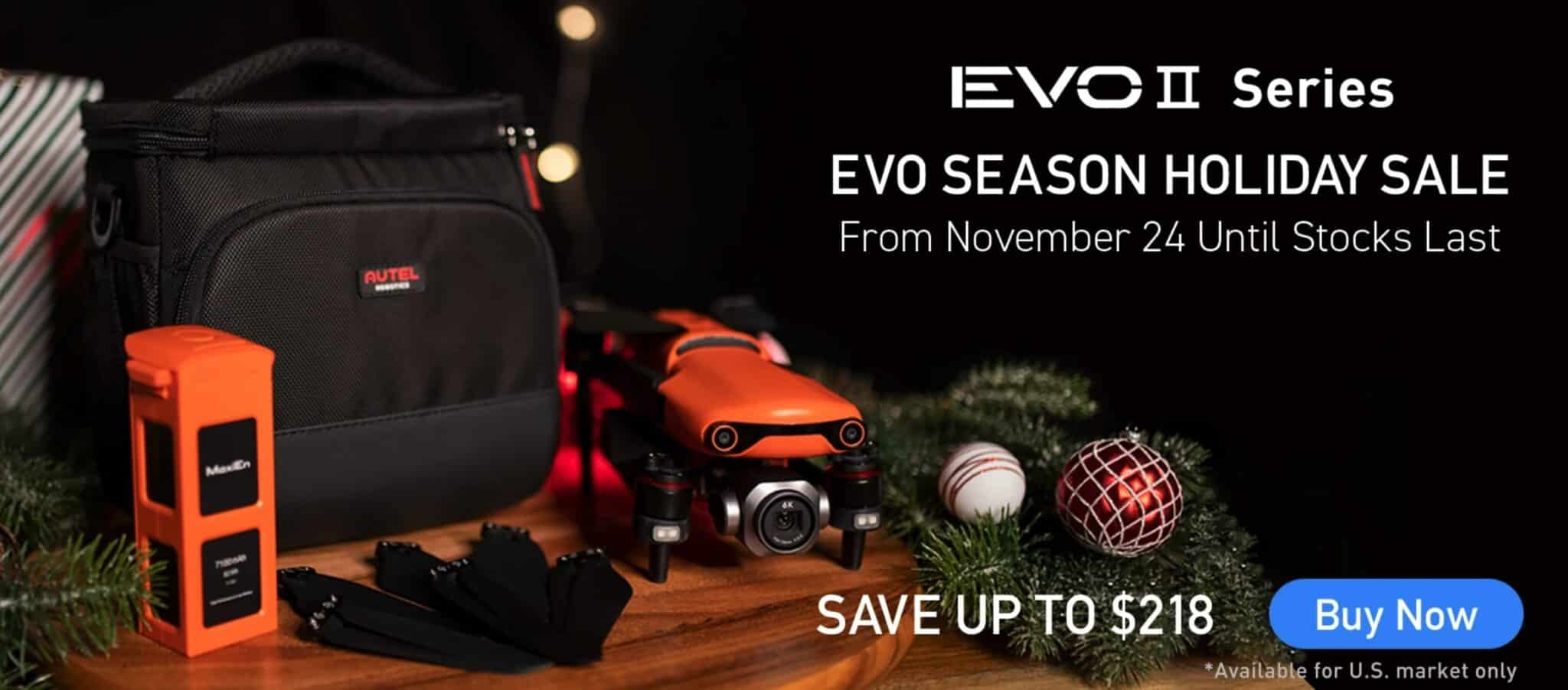 Autel Robotics Black Friday deals on EVO II and batteries