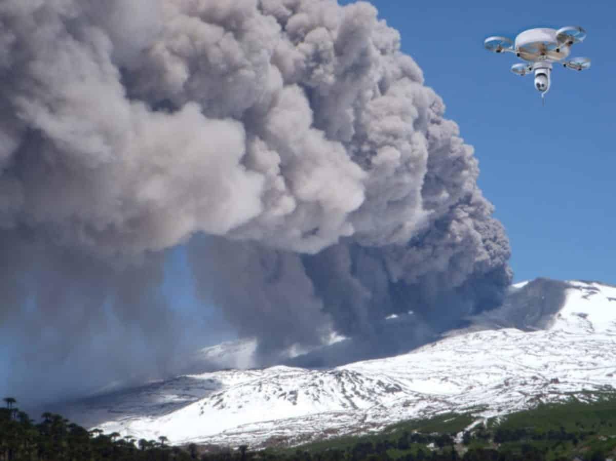 Gas sensor drones help to predict volcanic eruptions