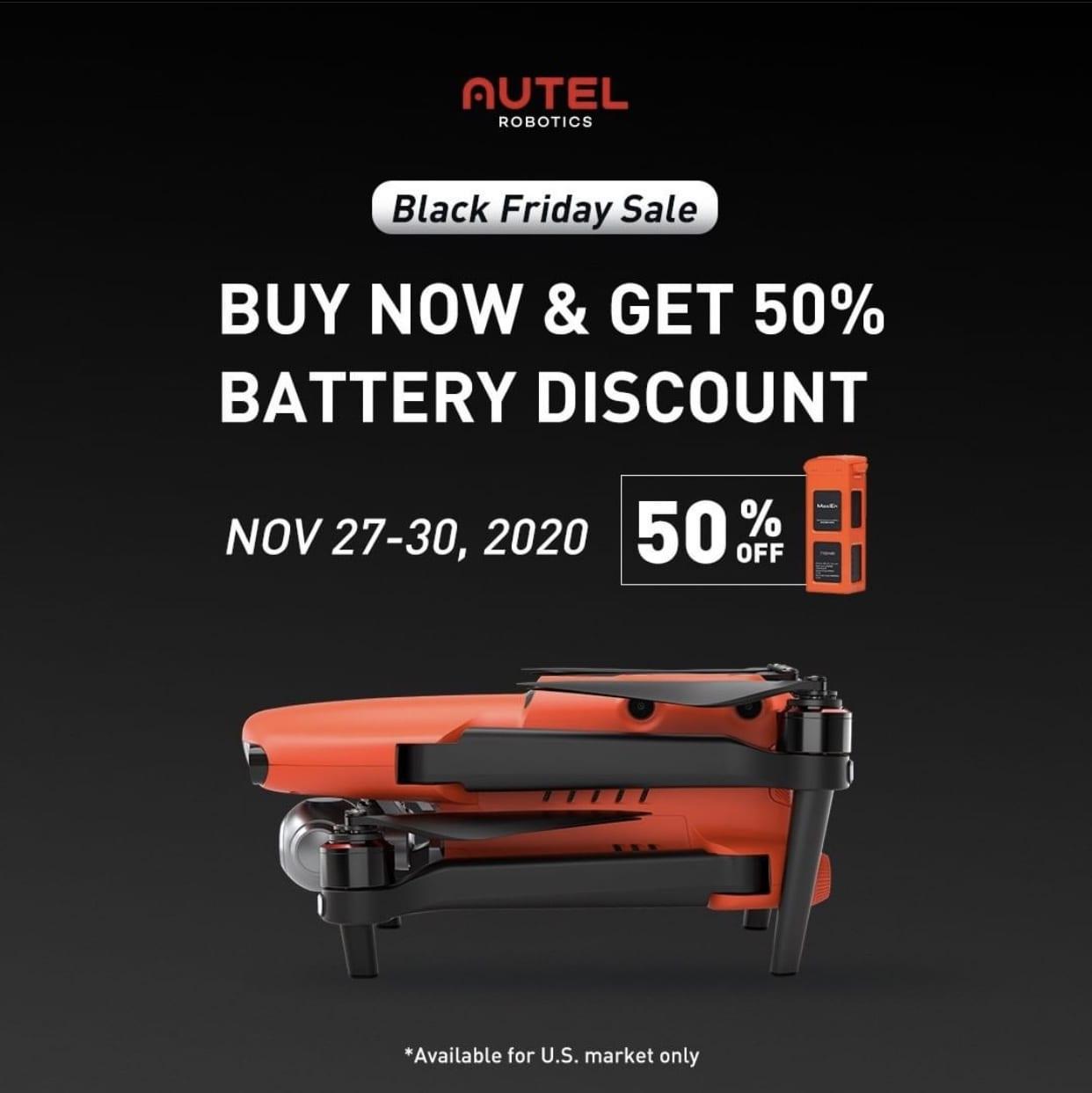 Autel Robotics Black Friday deals on EVO II and batteries