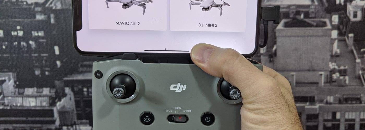 DJI Mavic Air 2 firmware update adds Mini 2 to remote controller - V02.00.1100