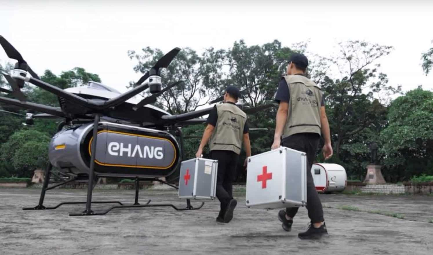 EHang presents cargo drone with a payload of 440 Lbs