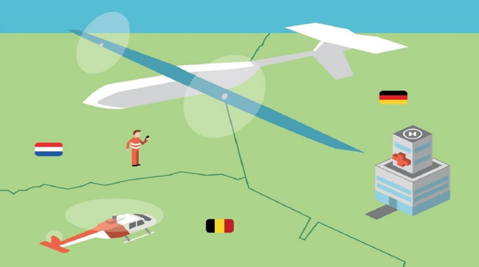 Rescue drone makes a test flight from Germany to the Netherlands