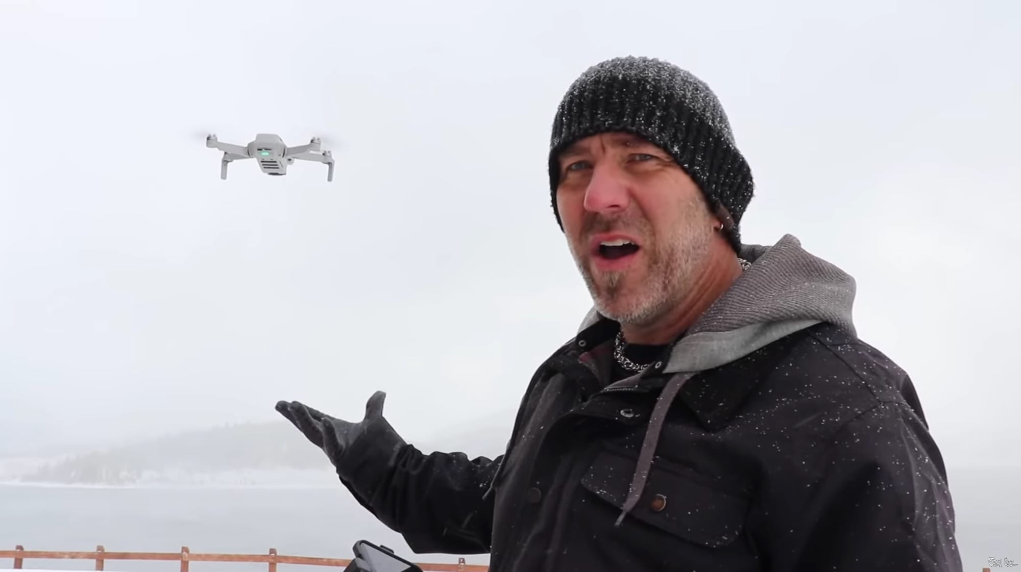 DJI Mini 2 cold-weather performance - drone outlasts one pilot