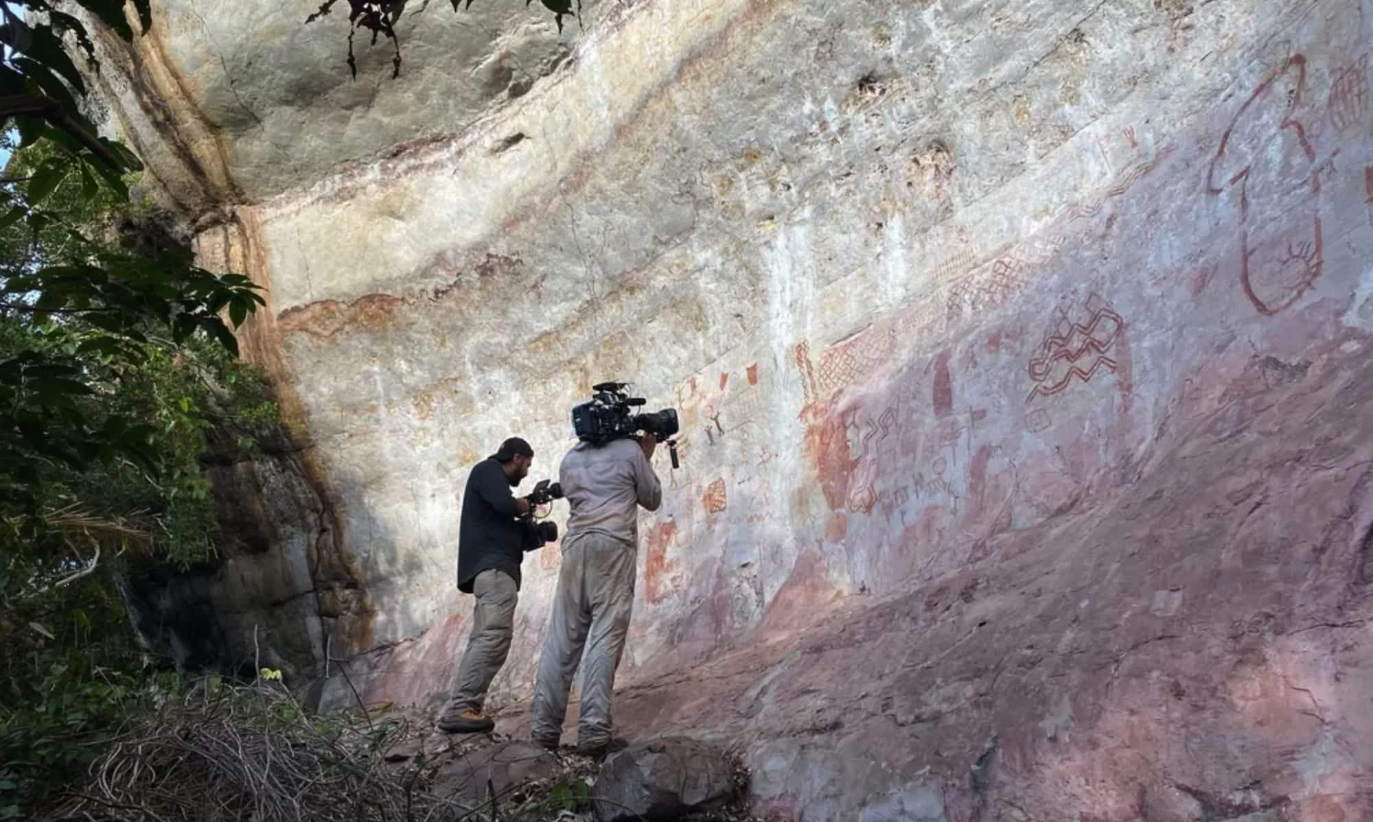 Drones needed to study thousands of prehistoric paintings in Amazon forest
