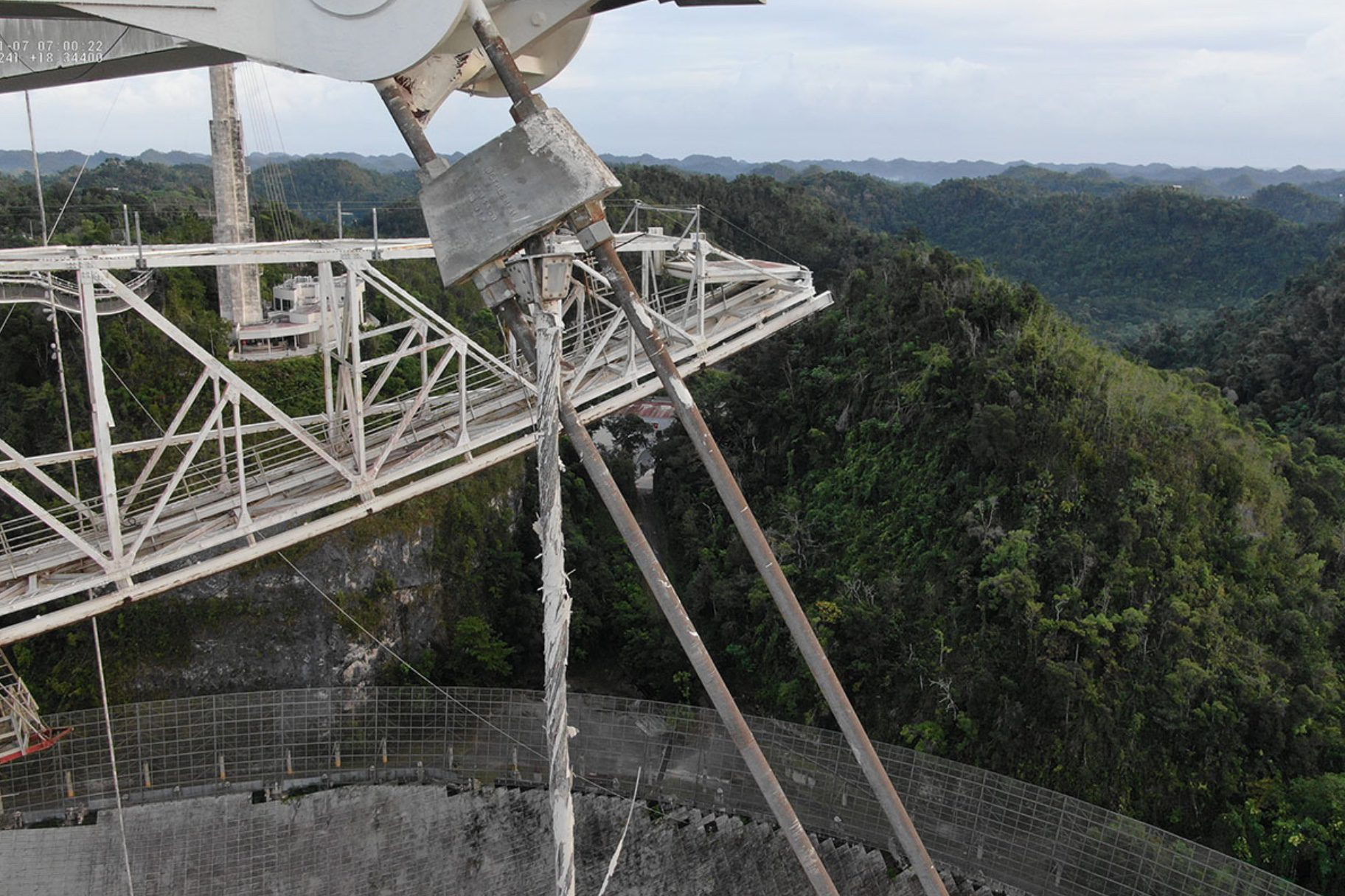 Arecibo Observatory cable break assessed with drones to minimize risk
