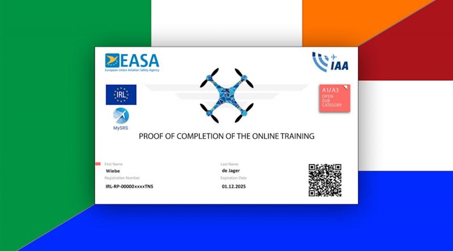 "Drone educators discouraged by ""Irish route"" to free EU drone ticket"