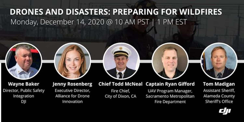 DJI webinar Drones and Disasters on December 14
