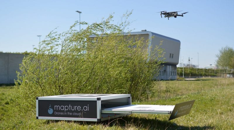 Automatic drone box to support fire brigade and water management operations in the Netherlands