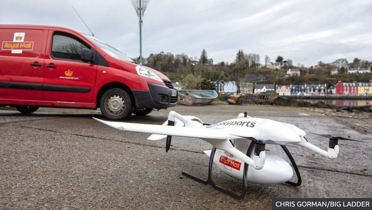 Royal Mail delivers first package by drone to Scottish Isle of Mull