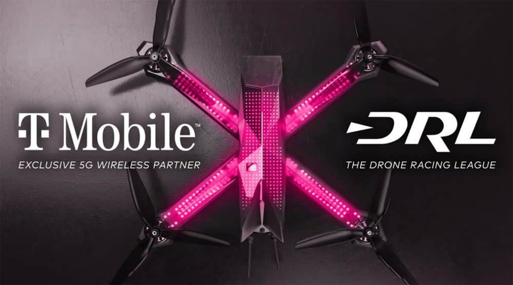 T-Mobile and DRL will live stream images from race drones via 5G