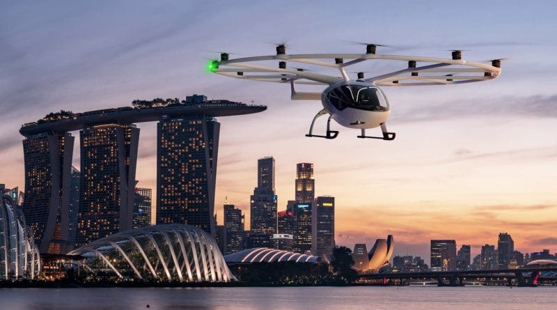 Volocopter to start electric air taxi service in Singapore