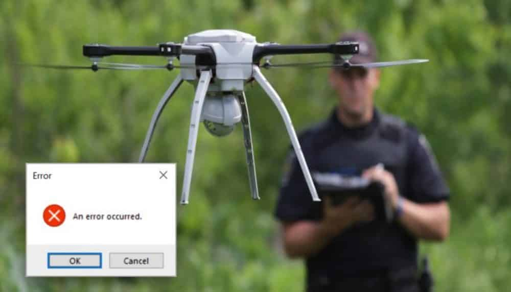 Pilot presses wrong button and crashes $85,000 police drone