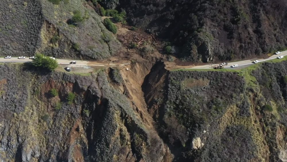 A drone video and 3D modeling software have been used to create a 3D model of the damage that occurred to Highway 1 close to Big Sur in California.