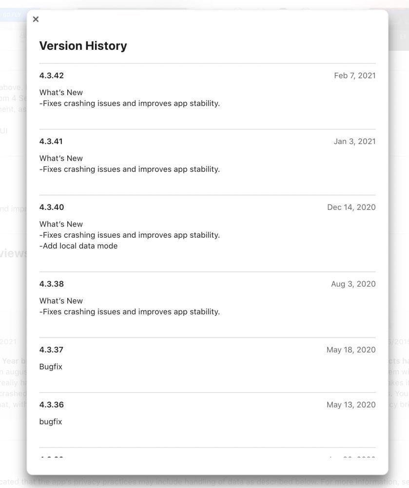 DJI Go 4 App version history