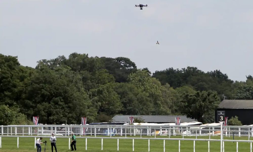 Drones live-streaming action deemed illegal by UK racetracks