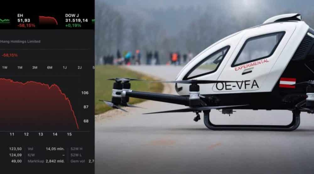 Shares drone taxi maker EHang crash after Wolfpack report