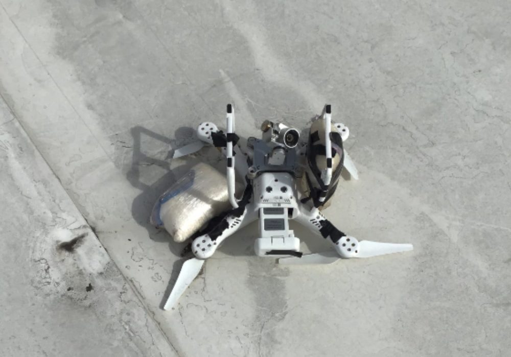 DJI Phantom drone with kilo of meth crashes on roof near border with Mexico