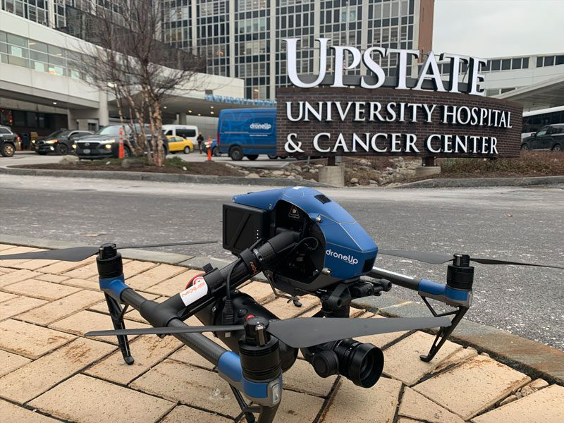 DJI Inspire drones are used to transport COVID-19 tests in NY