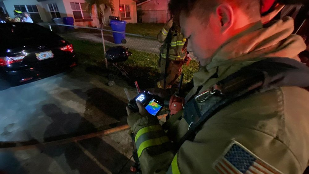 Firefighters use thermal DJI drone to help put out house fire