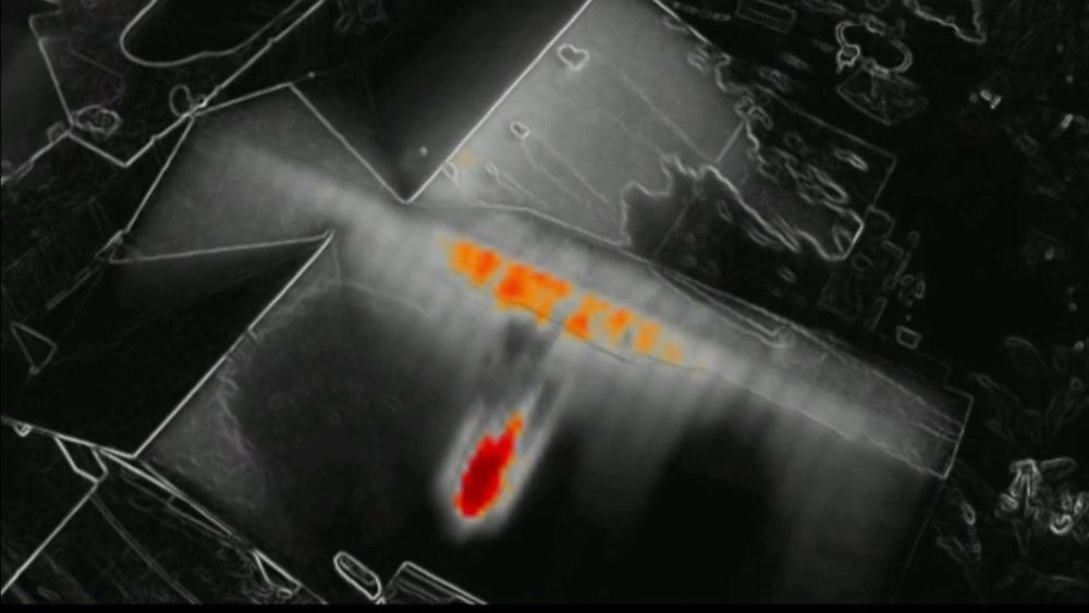 Thermal drone helps firefighters battle blaze in home