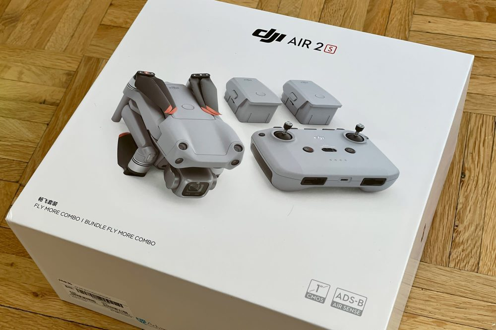 The DJI Air 2S Fly More Combo.