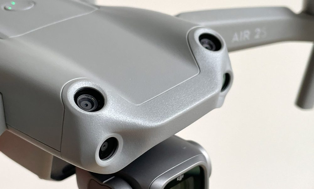 The DJI Air 2S has an extra set of sensors for obstacle avoidance and ActiveTrack.