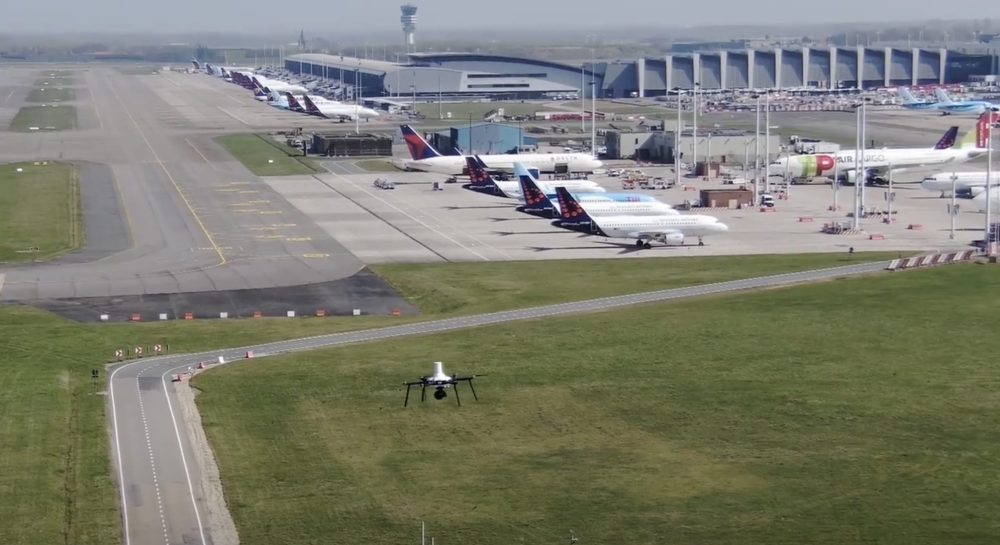5G drone trial above Brussels Airport successful while pilot 60 miles away