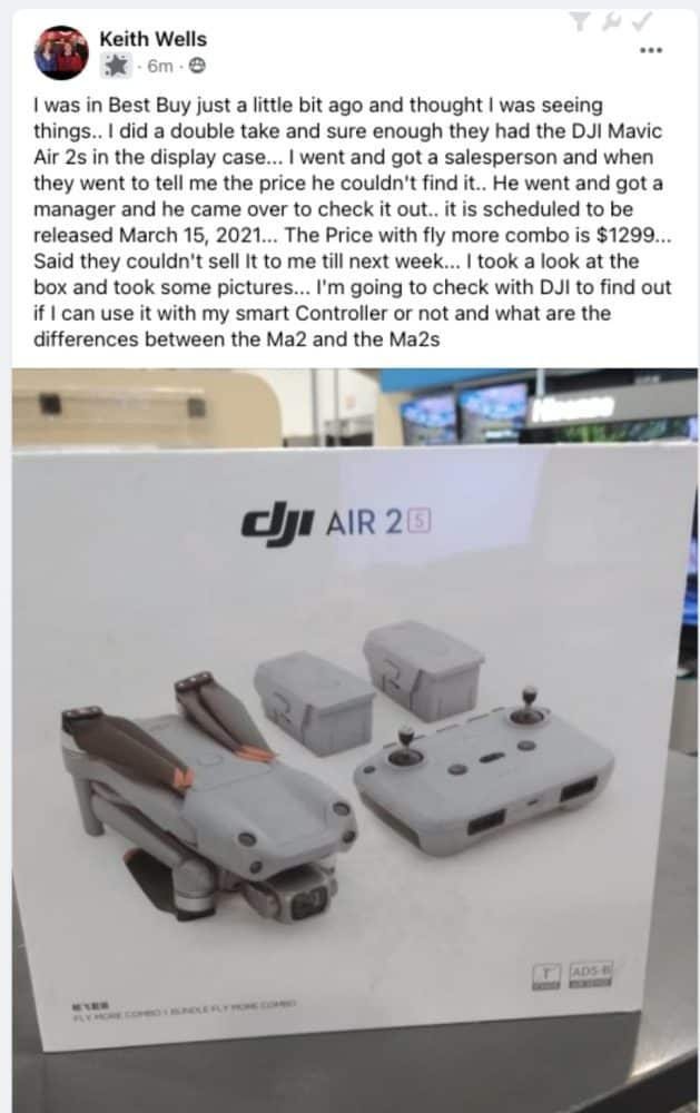 DJI Air 2S Fly More Combo $1299 in BestBuy store!