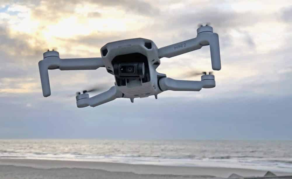 The DJI Mini 2 weighs less than 250 grams and has a 4K camera.