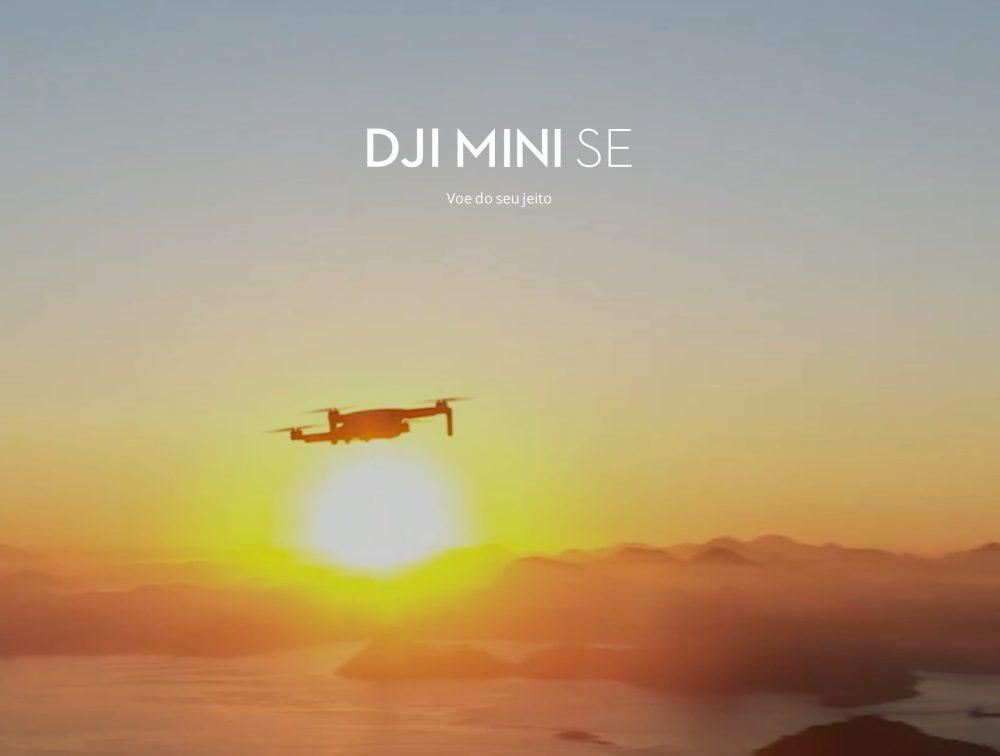 DJI Mini SE already shown on the DJI Brasil website