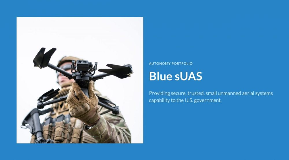 Blue sUAS purchased by Pentagon '8 to 14 times' more expensive than DJI drones