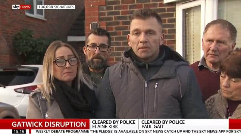 A couple who were mistakenly detained now suspect the police of covering up the Gatwick drone incident to protect their own reputation.