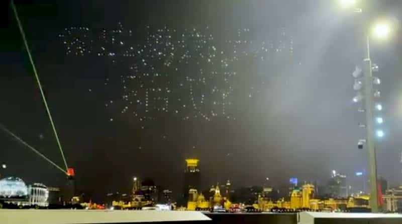 Drone show in China goes horribly wrong: dozens of drones crashed