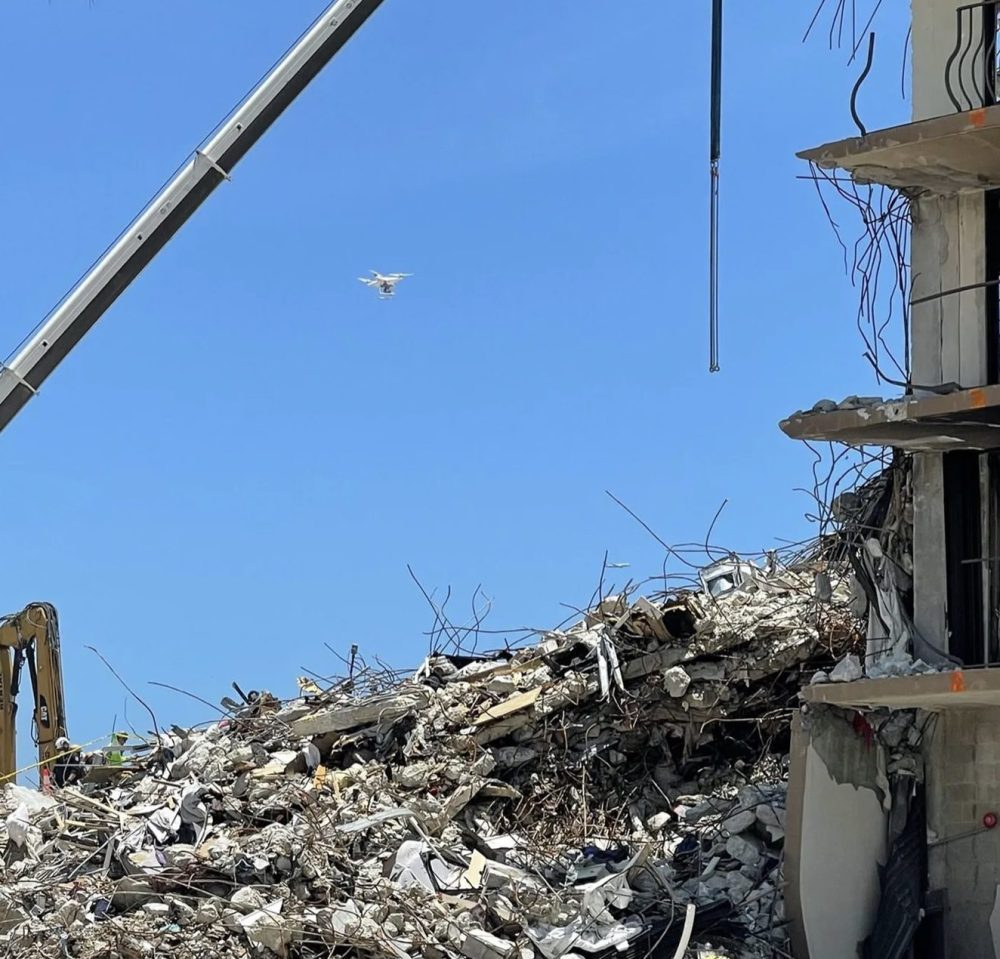 Drones flew night and day to survey Surfside condo collapse