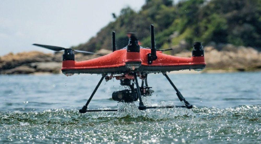 New waterproof SplashDrone 4 from SwellPro is fishermen's dream