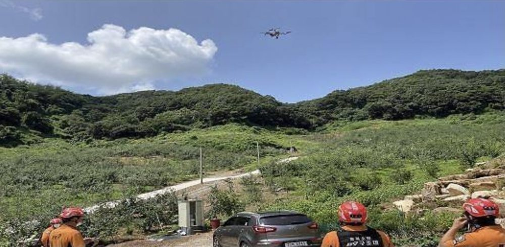 Drones locate and rescue lost hikers in South Korea