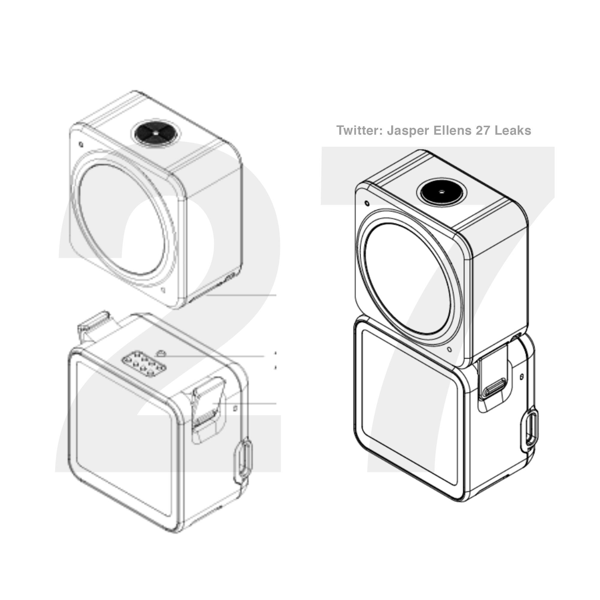 DJI Osmo Action 2 (OA2) specs, graphics, to be released soon
